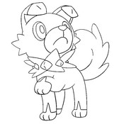 Coloring page Rockruff