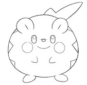 coloring page togedemaru