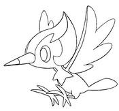 Dibujo para colorear Pikipek