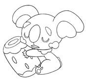 Desenho para colorir Komala