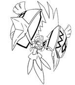 Dibujo para colorear Tapu Koko