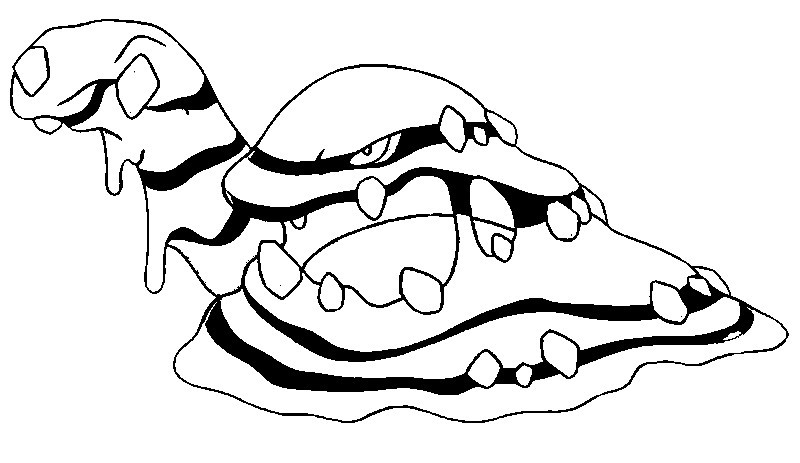 pokemon muk coloring pages - photo#19