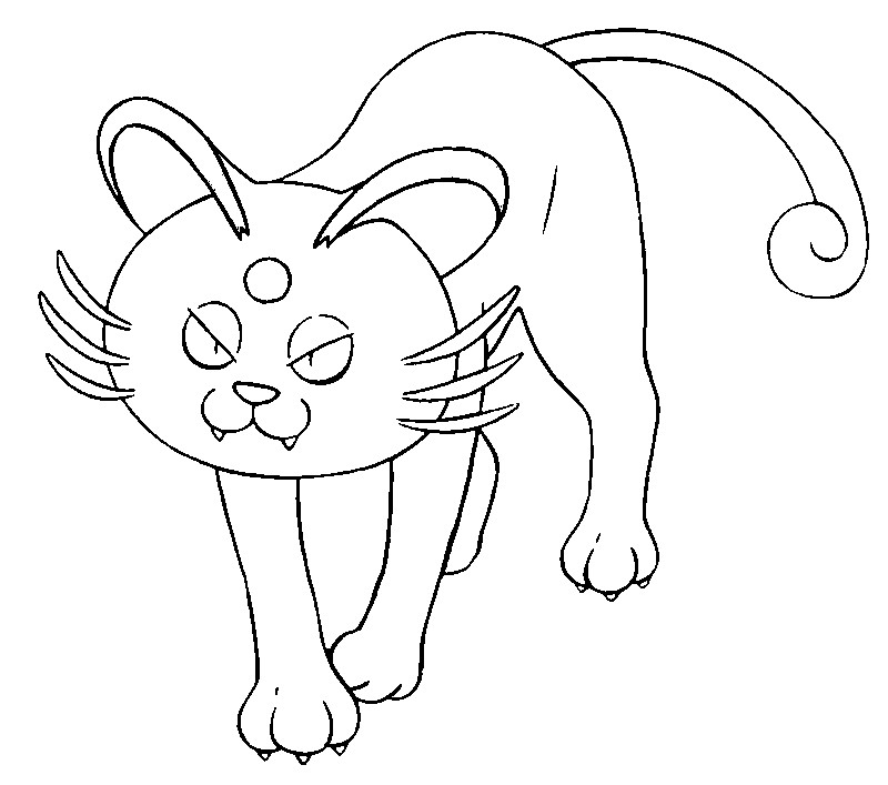 Coloring page Pokemon Alola Forms Alolan Persian 17