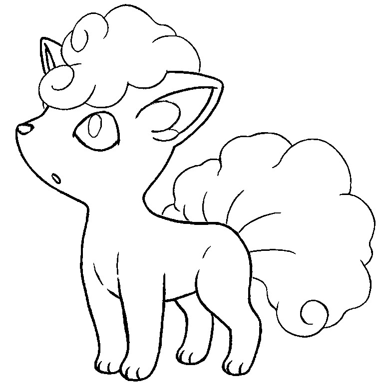 Vulpix Coloring Pages Coloring Pages Vulpix Coloring Pages