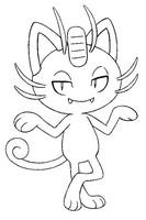Disegno da colorare Meowth di Alola