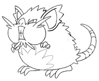 Coloring page Alolan Raticate