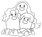 Desenho para colorir Alola Dugtrio