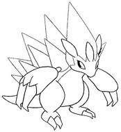 sandslash pokemon coloring pages - photo#17