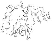 Disegno da colorare Ninetales  di Alola