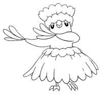Desenho para colorir Oricorio Pa'u Style