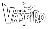 Coloring page Chica Vampiro