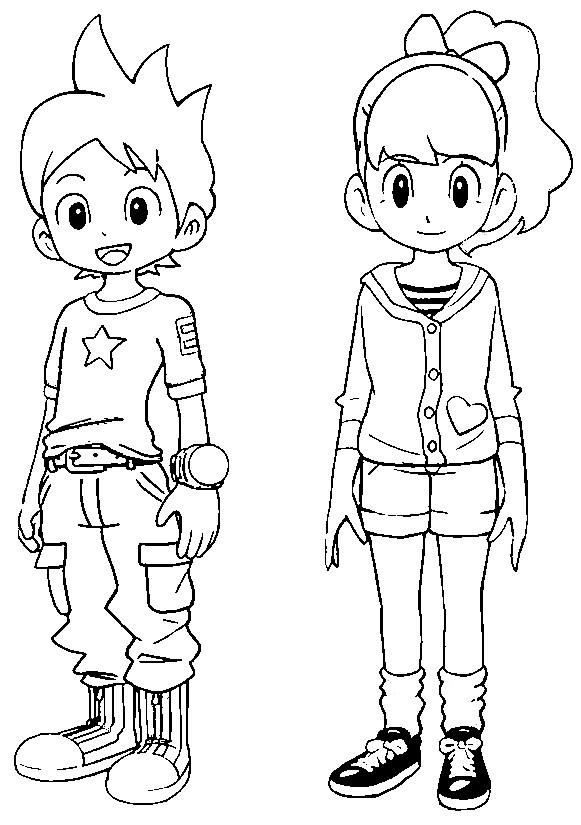 Coloring Pages Yo Kai Watch Morning Kids