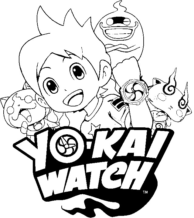 Coloring Pages Yo-Kai Watch Drawing