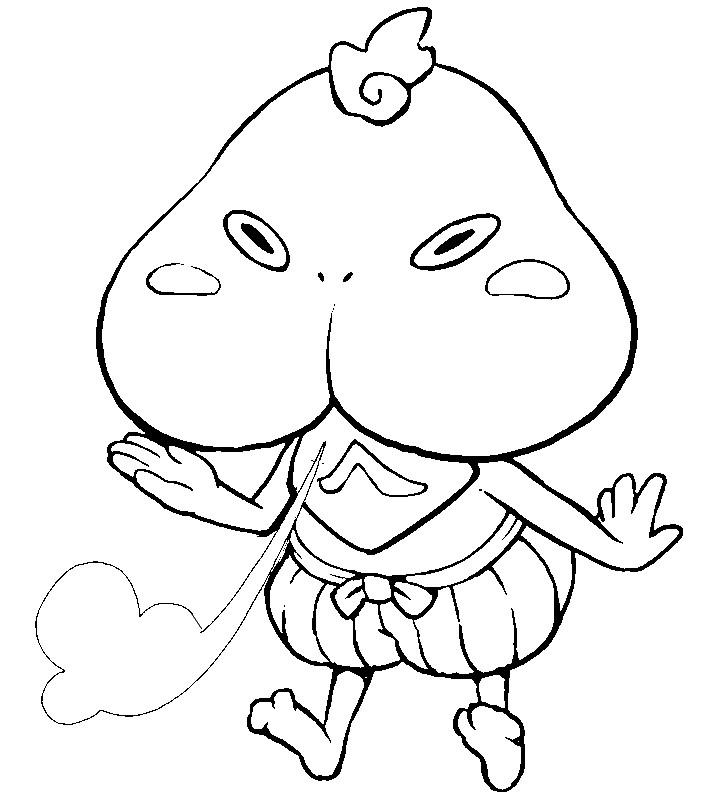 Coloring Page Yo Kai Watch 5