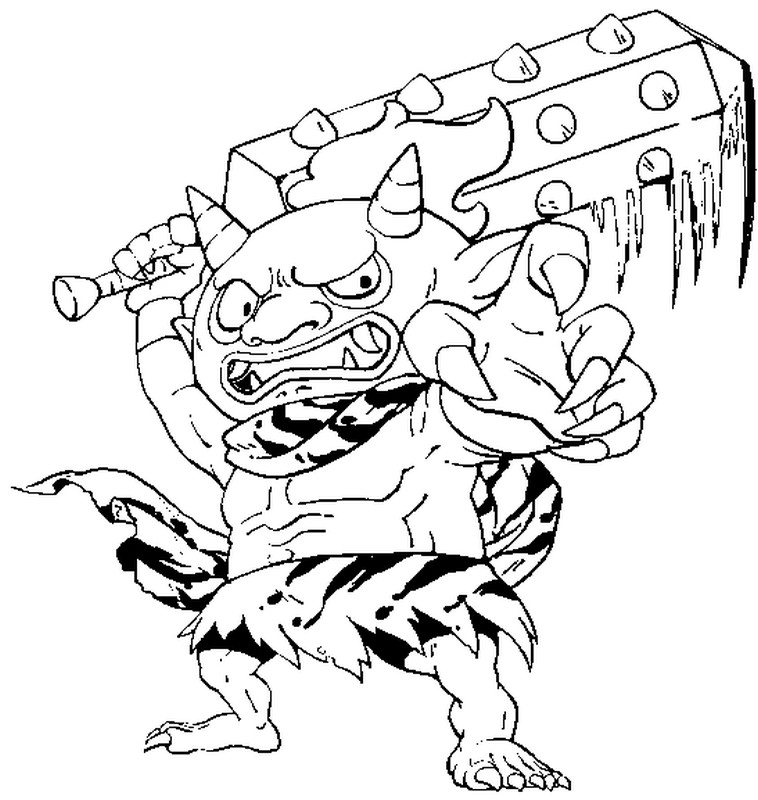 Dibujo para colorear yo kai watch 6 for Yo kai watch coloring pages