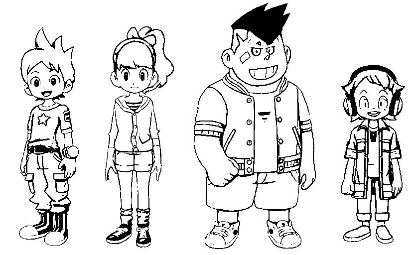 Dibujo para colorear Yo-Kai Watch 9