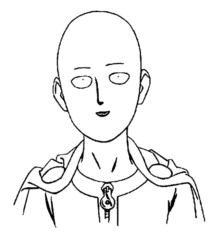 Coloring Page One Punch Man One Punch Man Saitama 1