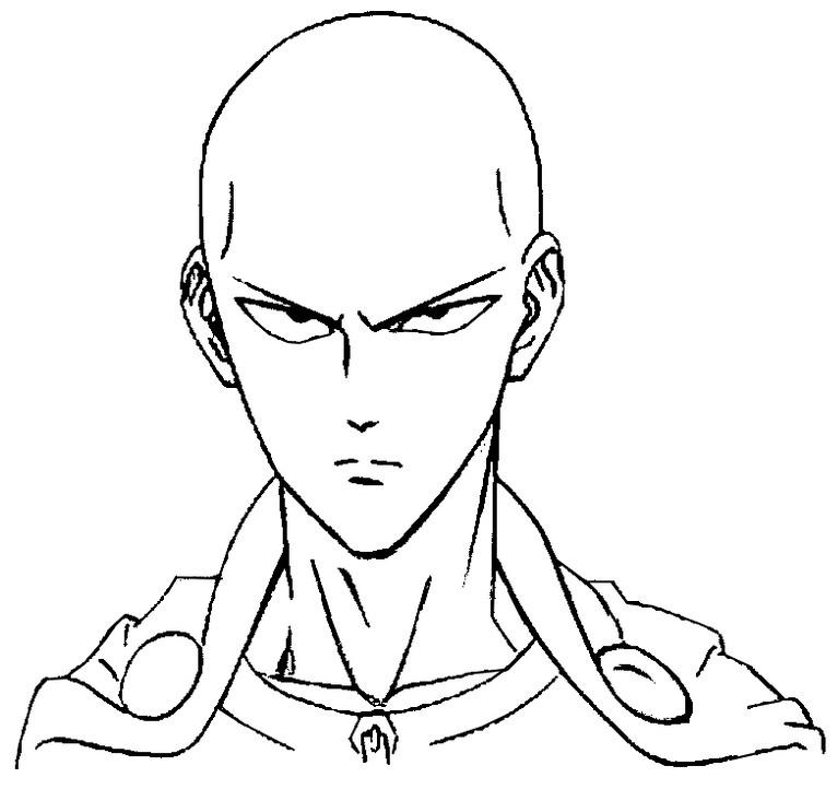 one punch man coloring pages Coloring page One Punch Man : Saitama 2 one punch man coloring pages