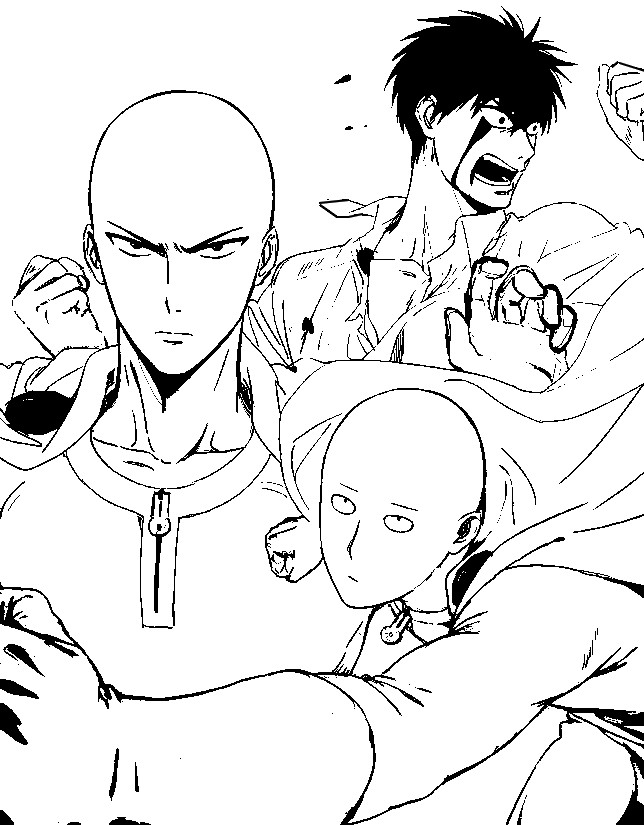 Coloring Pages One Punch Man Drawing