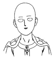 Kleurplaat One Punch Man Saitama