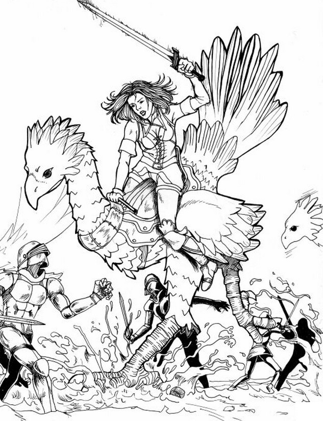 Coloring Pages Final Fantasy Drawing