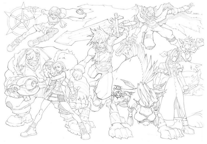 Coloring Page Final Fantasy Final Fantasy 7 5