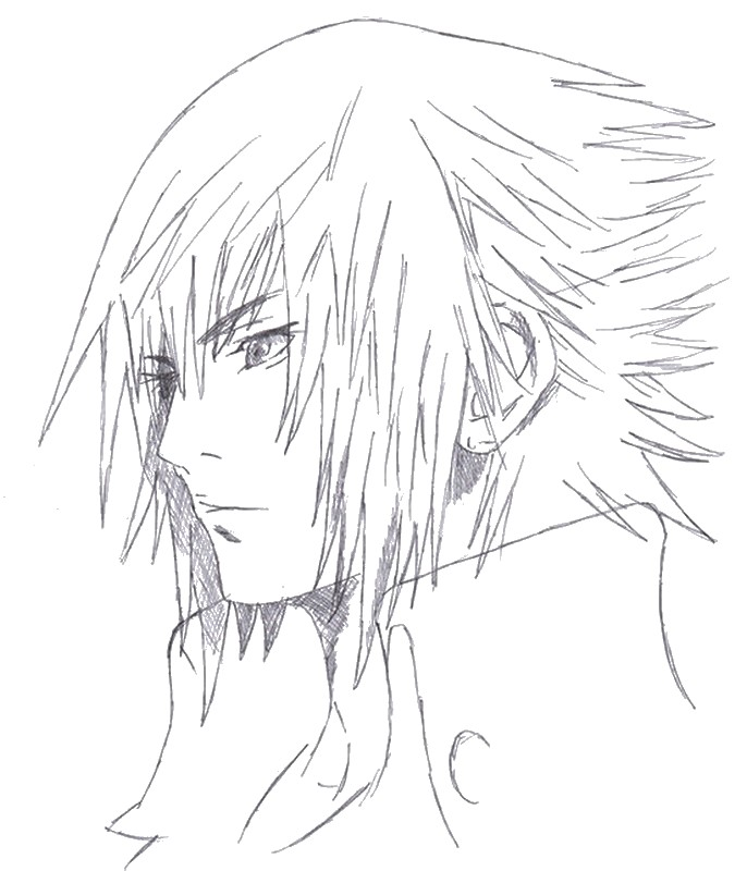 Coloring page final fantasy final fantasy xv noctis 8 for Final fantasy coloring pages