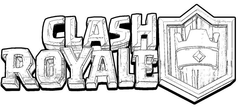 Dibujospara Colorear Clash Royale: Dibujo Para Colorear Clash Royale : Logo Clash Royale 2