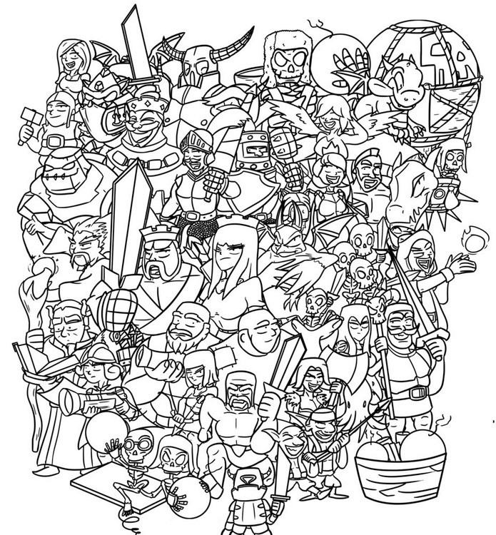 Coloring Page Clash Of Clan Royale