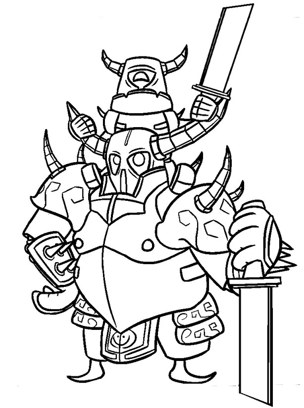 Coloring Page Clash Royale Pekka 6