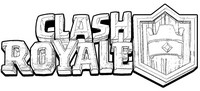 Coloring page Logo Clash Royale
