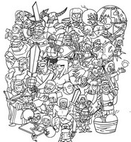 Coloring page Clash of Clan & Clash Royale