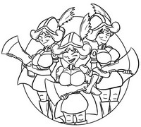 Coloring page Three musketeers