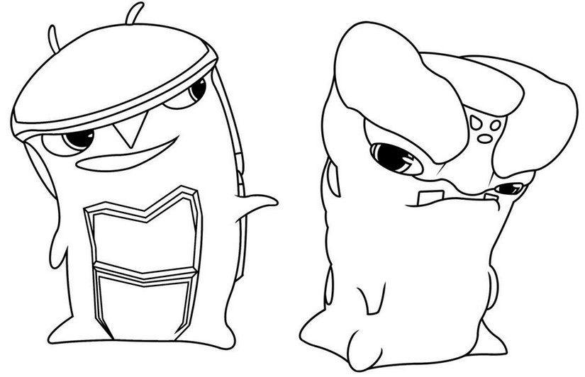 Coloring Page Slugterra Crystalyd Forgesmelter 1
