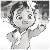 Coloring page Moana child