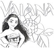 Coloring page Moana