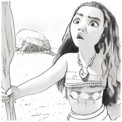 Coloring page Moana young girl