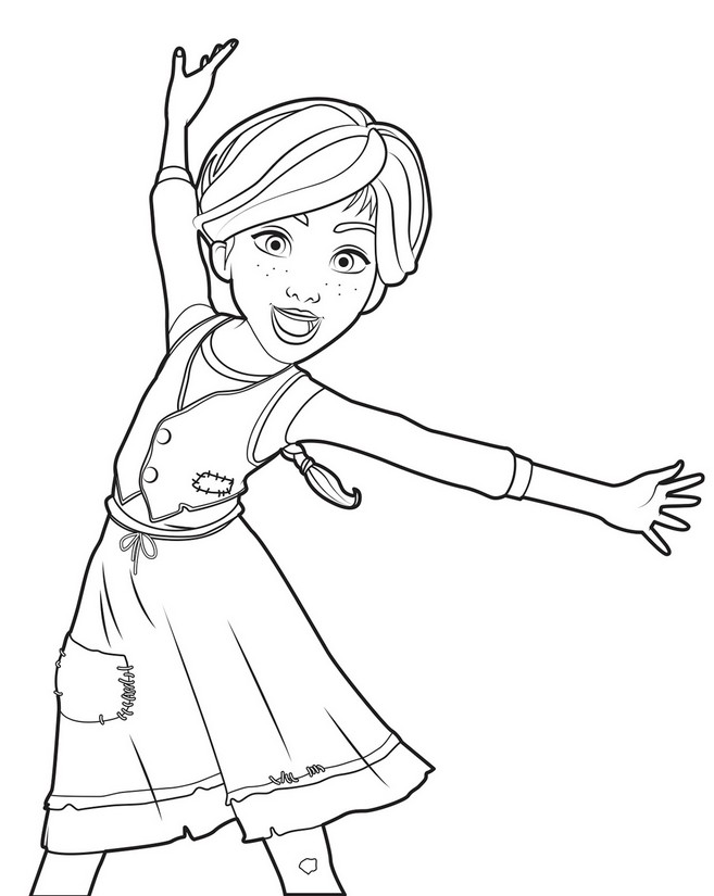 Coloring page Ballerina 2