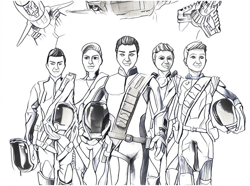 Coloring Page Thunderbirds