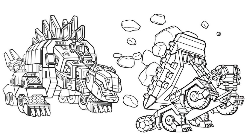 Coloring Pages Dinotrux Morning Kids