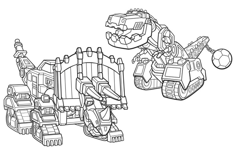 Coloring page Dozer and Ty - Dinotrux