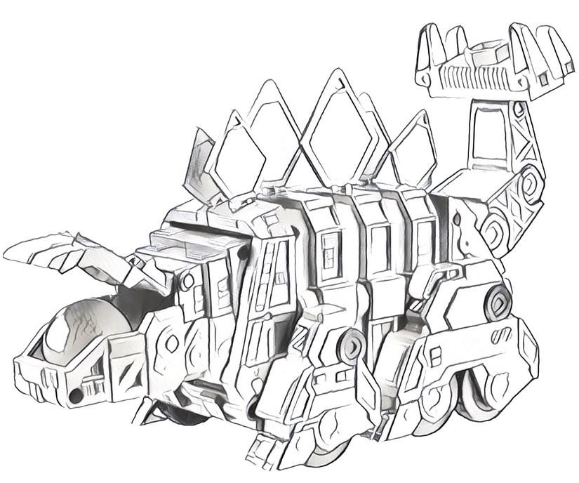 Dibujo para colorear Dinotrux 6