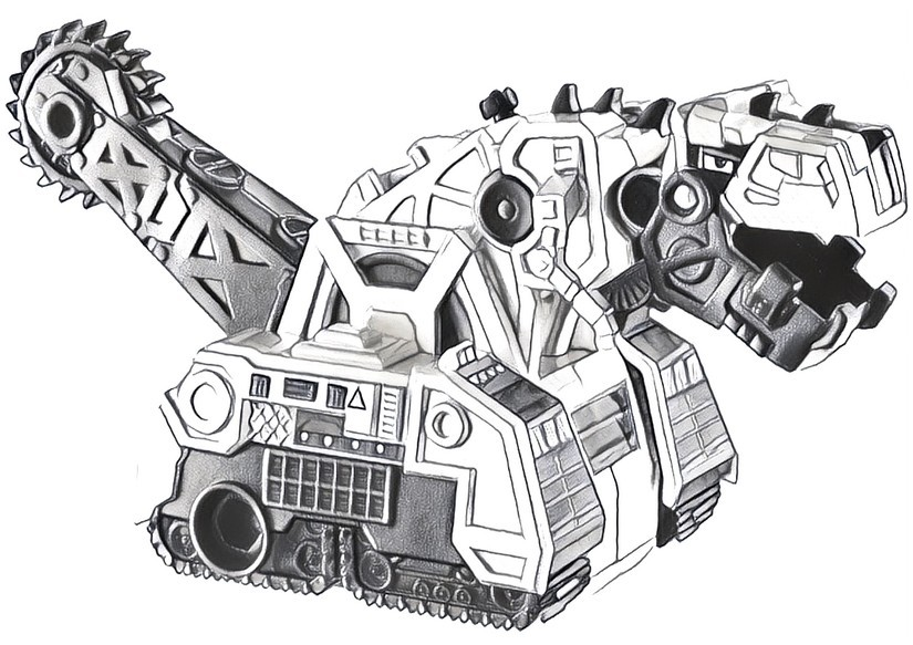 Coloring Pages Dinotrux Drawing