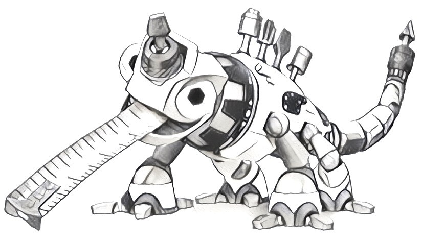Coloring page Revvit - Dinotrux