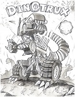 Coloring page Dinotrux