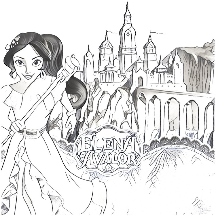 Coloring Page Elena Of Avalor 10