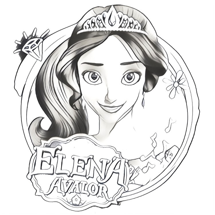 Coloring Pages Elena Of Avalor Morning Kids