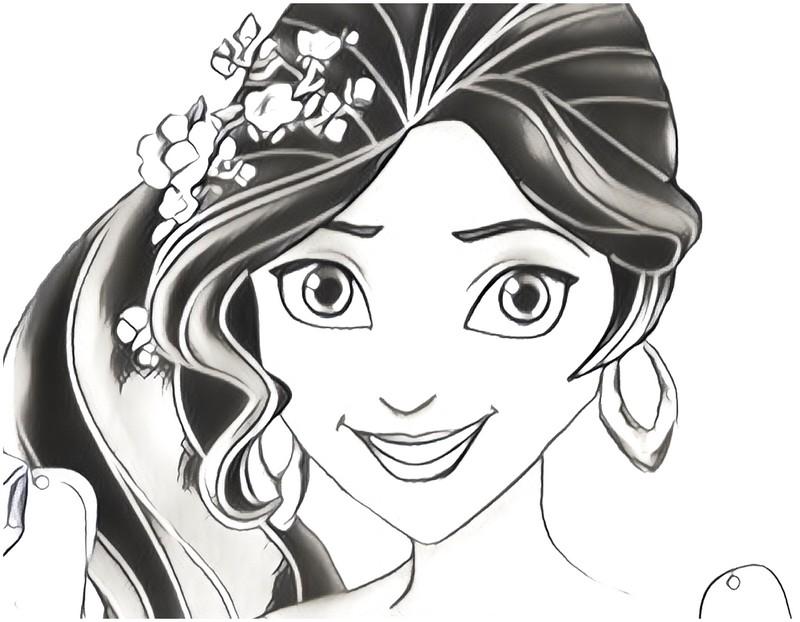 Desenho Para Colorir Elena De Avalor 3