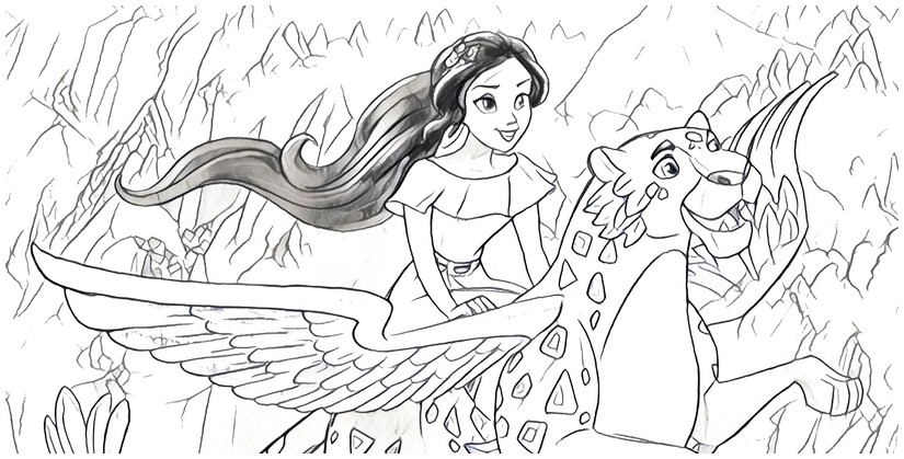 - Coloring Page Elena Of Avalor 8