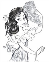 Coloring page Elena of Avalor